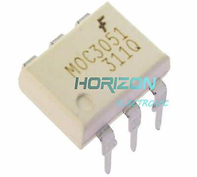 10Pcs Ic Moc3051 Fsc Optocoupler Triac-Out 6-Dip New