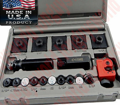 Inline Double Single Flaring Flare Adapter Tool Tube Cutter Slender Low Profile