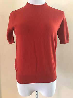 True Vintage 100% Cashmere Short Sleeve Top Made in Scotland Size S