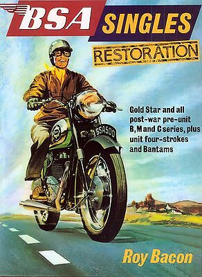 BSA Singles Restoration  By Roy Bacon B31 B33 B34 M20 M21 Book