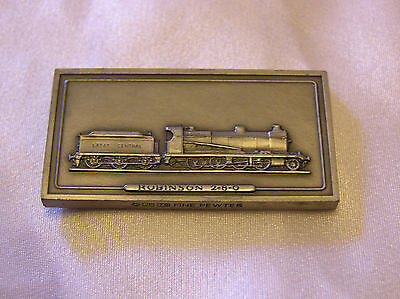 SOLID PEWTER INGOT of the ROBINSON 2-8-0 LOCOMOTIVE