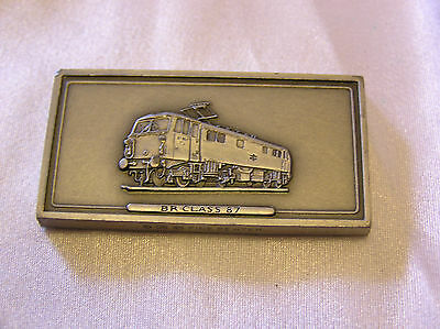 SOLID PEWTER INGOT of the BR CLASS 87 LOCOMOTIVE