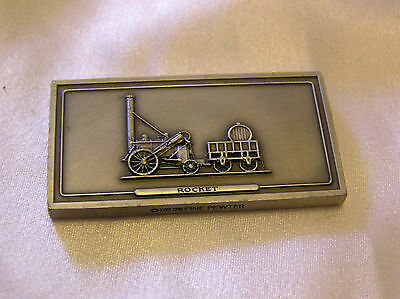 SOLID PEWTER INGOT of the ROCKET LOCOMOTIVE