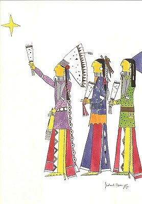 12 Native American Holiday Cards by Michael Horse (Three Wise Men)