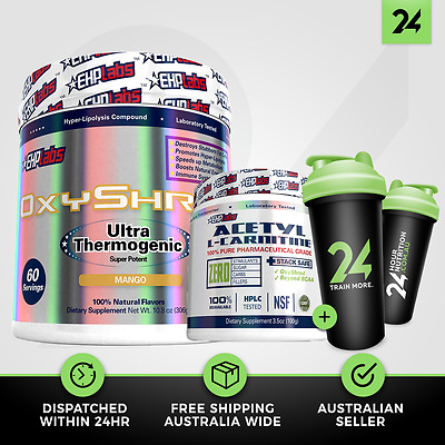 OXYSHRED + ALCAR by EHP LABS | Weightloss Pack | Acetyl L Carnitine | Free GIFT!
