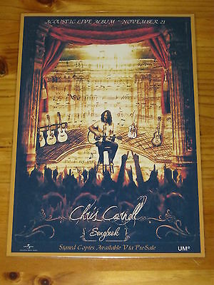 Chris Cornell - Soundgarden - Acoustic - Songbook -  Laminated Promo Poster