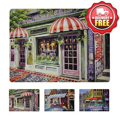 Wilkie Brothers Placemats 6pcs - French Cafe | Cork back with easy wipe clean