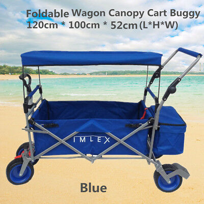 Outdoor Utility Beach Shopping Sport Collapsible Folding Wagon Canopy Cart Buggy