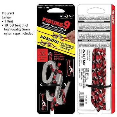 Niteize Figure 9 Large - Stainless w/ Rope