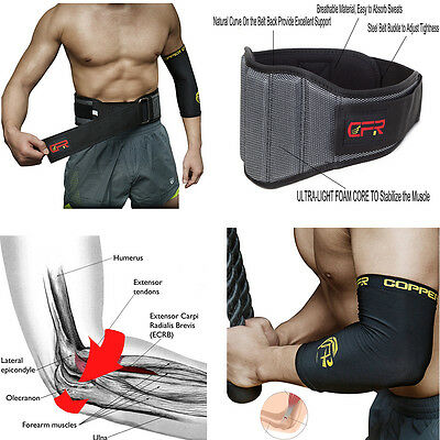 Lumbar Lower Back Support Weight Lifting Belt Brace Pain Relief Gym Training US