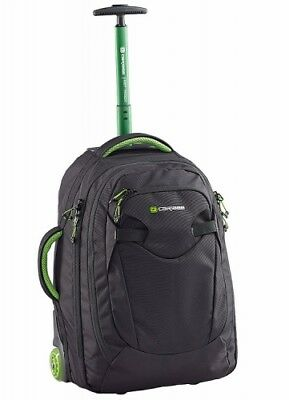 NEW Caribee Travel Fast Track, Lightweight Wheeled Backpack, in Navy/Blue, 45L