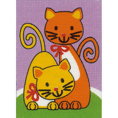 """Playing Cats Plastic Canvas Kit 5.25""""X7.25"""" V0155678"""
