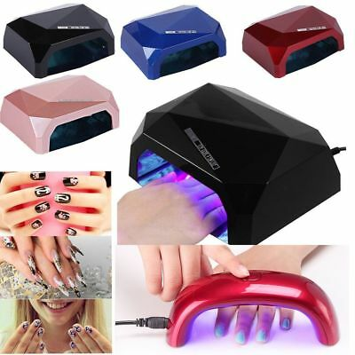 9W/36W LED Nail Dryer Diamond Shape Curing lampe Machine For UV Gel Nail Polish