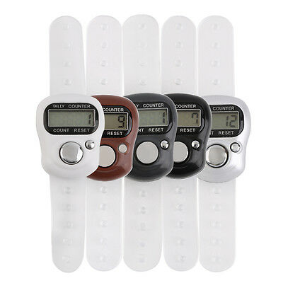Mini Finger Hand Held LCD Electronic Digital 5 Digit Ring Tally Counter SY