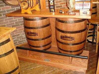 Jack Daniels furniture double barrel bar