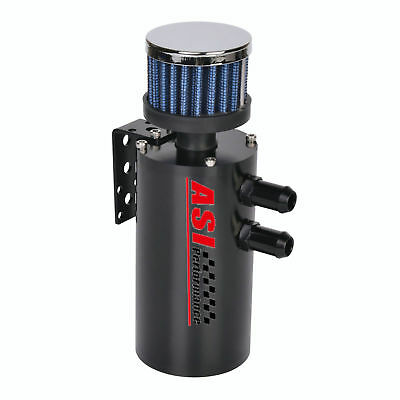 300ml BAFFLED OIL CATCH CAN RESERVOIR TANK W+BREATHER FILTER & Hose
