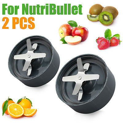 2PCS NutriBullet Nutri Magic Bullet Extractor Blade + Gray Gasket Replacement US