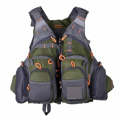 Multifunctional Fishing Quick Drying Mesh Fishing Vest With Mutil-Pockets SY