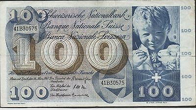 Switzerland , 100 Franken , 28.3.1963 , P 49e , Series 41B