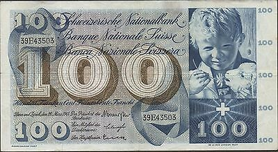 Switzerland , 100 Franken , 28.3.1963 , P 49e , Series 39E