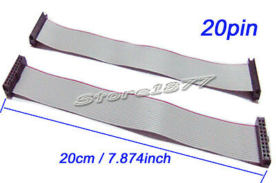 2pcs 2.54mm Hole Pitch 20pin 20 wire IDC Flat Ribbon Cable 20cm s887