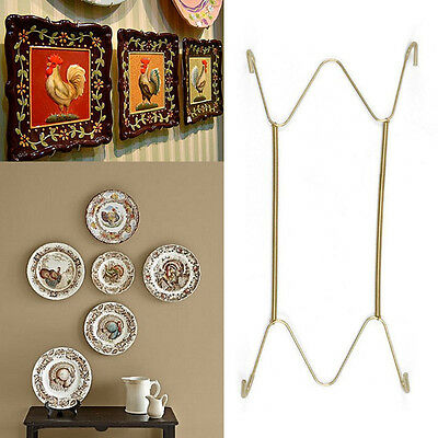 "W Type Hook 8"" to 16""Inchs Wall Display Plate Dish Hangers Holder For Home Decor"