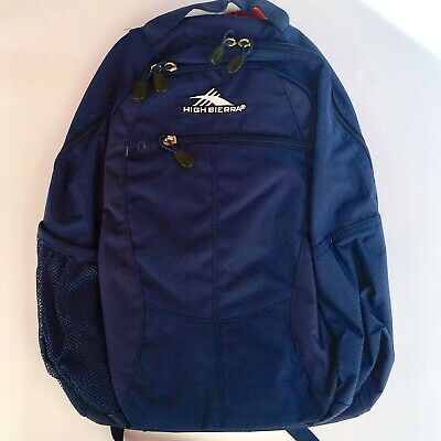 Navy High Sierra Curve Backpack School & Day Hiking Backpack ~ NEW