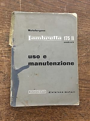 ORIGINAL INNOCENTI LAMBRETTA 175 INSTRUCTION MANUAL 60's *RARE