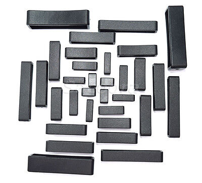 Plastic Black Keeper Belt Loop Square Loop Leather Craft 8 Sizes to Choose from