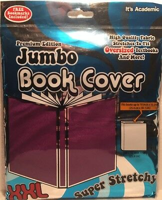 Jumbo XXL 10x15 Super Stretchy Washable Reusable School Textbook Cove NEW PURPLE