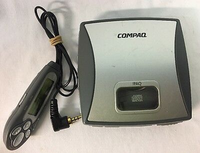 Rare Compaq iPAQ PM-1 Mini-CD Player - MP3  - CD R W/ Remote