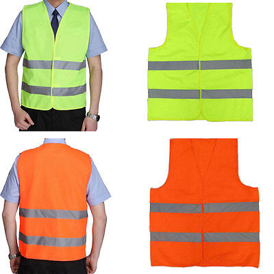 10x Reflective Safety Vest Neon Yellow High Visibility Construction Traffic Work