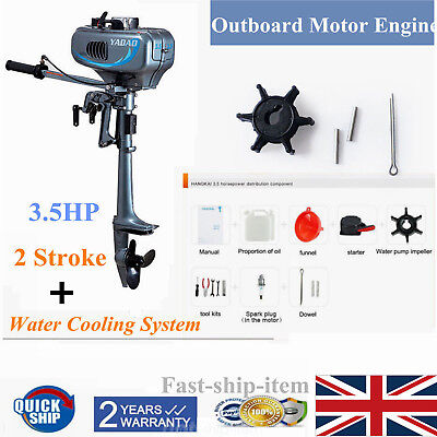3.5HP 2 Stroke Outboard Motor Fishing Sail Boat Engine Water Cooling Short Shaft