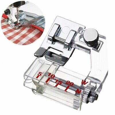 Adjustable Snap On Bias Feet Tape Binding Foot for Brother Janome Sewing Machine