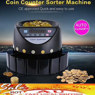 Magic Coin Counter Sorter Automatic Money Counting Machine Digital Electronic Au