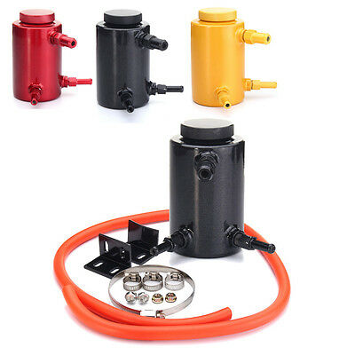 Aluminum Engine Oil Reservoir Catch Can Tank Kit Breather Waste Oil Recycling