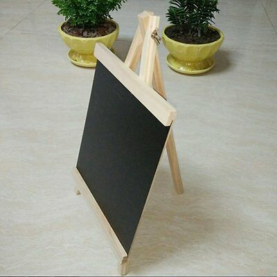 Blackboard 24*13cm Wooden Message Board With Adjustable Wooden Stand Durable SY