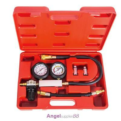 Cylinder Leak Tester Petrol Engine Compression Leakage Leakdown Double Gauge