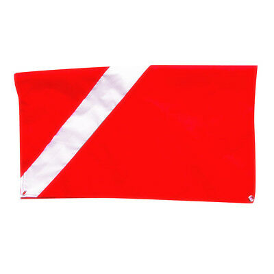 """Underwater Diving Snorkeling Free Diving Flag Red White Safety Flag 20x24"""""""