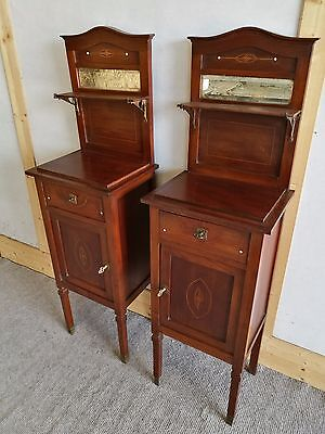 Mahogany Pair Of Antique French Bedside Cabinets