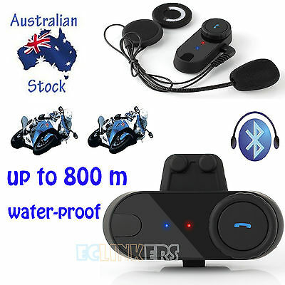 800m BT Interphone Motorcycle Bluetooth Intercom Headset Sport Helmet Speaker
