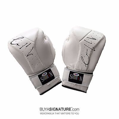 Conor McGregor Double Signed White Boxing Gloves