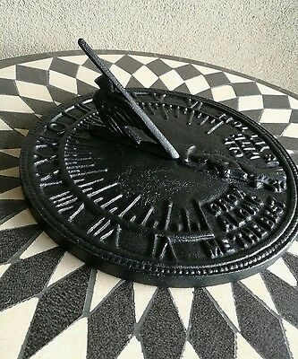 Brand new Decorative sundial. Cast iron. Home. Garden. Sun