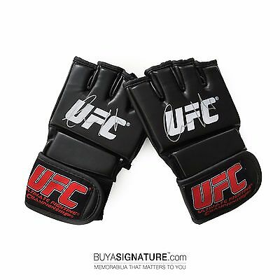 Official UFC Conor McGregor Double Signed Black Grappling Gloves