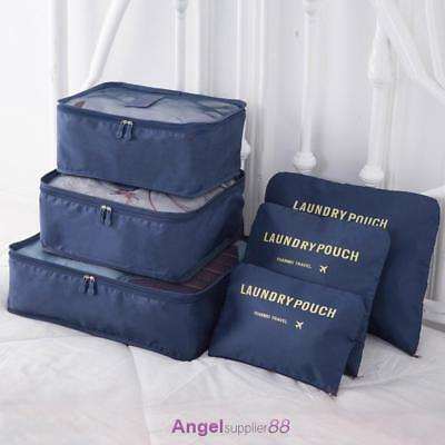 6pcs Travel Clothes Storage Bags Luggage Organizer Pouch Suitcase Packing Cube
