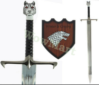 "Game of Thrones  ""Winter is coming"" Long Claw 42"" Sword Replica & Plaque #5909"