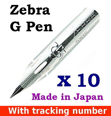 10 x Zebra G pen nib for Copperplate/Spencerian writing, Manga/Comic (tracking)