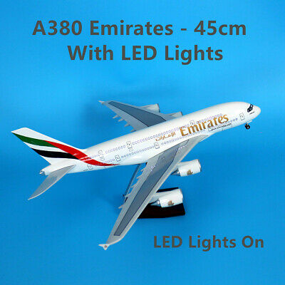 Gift Emirates 1:162 Fibreglass Resin Airbus A380 Aircraft Plane Model 45cm Large