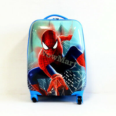Kid Gift Wheeled Rolling Suitcase Travel Bag Luggage Trolley ( 4-Wheel Spider B)