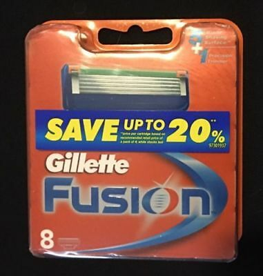 Gillette Fusion Manual Razor Blades 8 Packet Brand New In Packaging